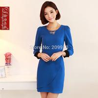 2014 formal work uniforms one-piece dress spring and autumn female dresses plus size xxxxl