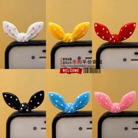 Rabbit ears dust plug little butterfly dust plugs fashion cell phone accessories sweet polka dot plug103