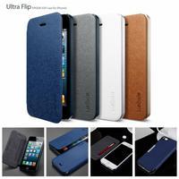 2014 new 2pcs 5s Sgp SPIGEN Ultra thin Flip pu Leather cases for iPhone 5g 5s original luxury phone bags Covers hot sale online