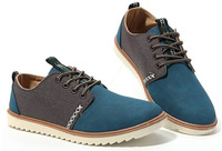 Free Shipping 2014 New Fashion Suede Men Shoes Lace Up Sneakers European Style Men's Casual Shoes 4 Colors Euro Size:39-44