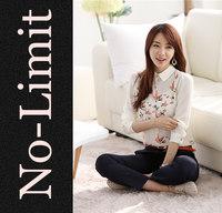2014 New women Chiffon shirts Females Flower Long Sleeve Blouse blusa White blouses Big/Plus size camisa