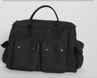 Unisex Lady Canvas Shoulder Handbag Purse Totes Bag Satchel Multi Pockets Travel