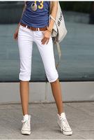 2014 New Fashion Summer Korean NAK21 Slim Elastic Cotton Capris Short Pants Trousers Free Shipping