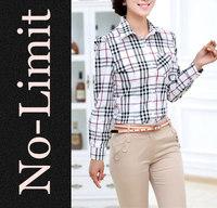2014 new arrival 100% Cotton shirts Womens casual shirt females street Long sleeve Geometric blouse blusas blusa hot sale