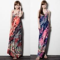 0784 bohemia full dress fashion elegant slim one-piece dress beach dress  Fashion women's clothing