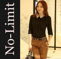 2014 new Fashion Blouses Chiffon Womens Formal cute shirt female Weave Collar brief shirts blusas femininas hot sale