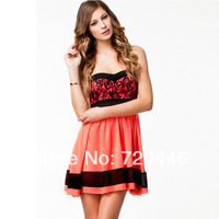 Free Shipping 2014 Summer New Arrvial Women's Plus Size Sexy Club Dresses Big Sizes Ladies' Fashion Apparel  Girls' Office