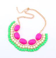 2014 Collar Necklace Temperament Chain Fluorescent Influx of Women Short Fashion Necklace~CN359