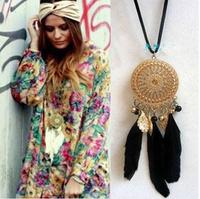 2014 Indian dreamcatcher necklace bohemia necklace accessories female pendant necklace