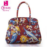 New women's handbag 2014 fashion trend of the fashion flower print zipper handbag