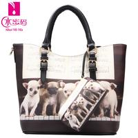 2014 spring and summer women's print shoulder bag handbag vintage personality women's print handbag cross-body handbag