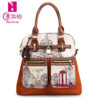 Bags 2013 women's handbag women's handbag messenger bag fashion oil painting vintage print female shoulder bag