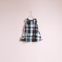 girl m-b257 japanese style plaid lacing tank dress one-piece dress