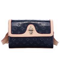 2014 spring and summer hit color embossed shoulder bag Messenger bag big temperament small fresh style leather female bag