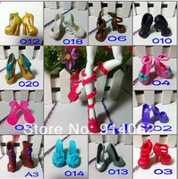 Monster doll shoes 30 pcs/lot randomly sent free shipping wholesale price shoes for girl doll