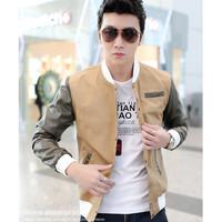 Male 2014 spring outerwear jacket male fashion slim thin outerwear jacket