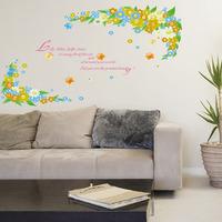 Eco-friendly pvc wall stickers ay1927 flower sofa decoration wall stickers