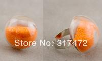 Free ship!30sets/lot 25mm half Round Ball Liquid Rings,glass bubble Liquid rings,Glass Globe Bubble Vial rings,glass bottle ring