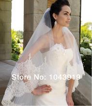 Free Shipping New Fashion 3 Meters 1T High Quality Woman Wedding Veil Ivory Rhinestone Veil Bridal Hair Accessories(China (Mainland))