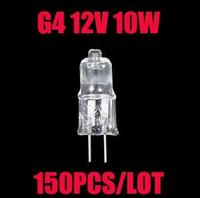 150pcs 2750K 12V 10W G4 base halogen light bulbs halogen lamps bulbs