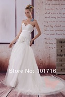 2014 new fashion beautiful beaded chiffon wedding dress