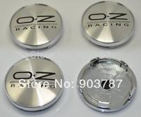 20pcs 60mm OZ wheel center caps hub black / red letters car badge wholesale
