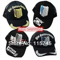 New 2014 attack on titan Baseball cap Investigation Corps badge printing,Free shipping