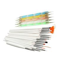 Free shipping 20 pcs Nail Art Design Set Dotting Painting Drawing Polish Brush Pen Tools