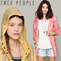 Free people women's beautiful lace print raincoat