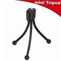 Free shipping NEW Universal Flexible Mini Portable Metal Tripod Stand for mini projector DV Digital Camera Webcam Gopro