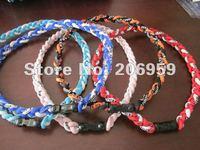20pcs sports necklace titanium braided baseball necklaces titanium germanium necklaces free shipping