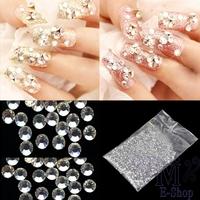 Beauty 20000pcs 1.5mm Clear Crystal Rhinestones Glitter 3D Nail Art Decoration DIY Tools Manicure Tips