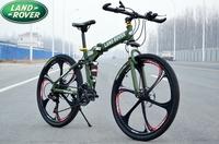 26 folding mountain bike carbon steel double shock absorption 21 24 double mountain bike disc brakes warranty