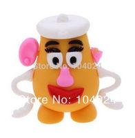 Free Ship Wholesale 10pcs lot cartoon toy story Mr Potato head  shape USB Flash drive 2.0 U disk pen stick memory
