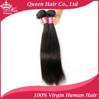"Queen Hair Brazilian Straight Hair 2 pcs lot 12""-28""Free Shipping Brazilian Virgin Hair Weave Bundles Human Hair Weave Straight"