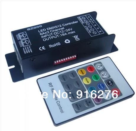 RGB контролер TM DMX512 DMX DC 12V 24V 18A DMX512 DMX + RF SZ200
