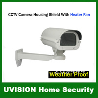CCTV Camera Housing Shield With Heater Fan Bracket Weather Proof free shipping