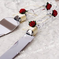 Free Shipping Cake Knife Acrylic Handle For Wedding Props Safest Package with Reasonable Price