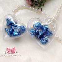 wholesale  6.5cm transparent Heart plastic ball,transparent hanging christmas baubles ball,clear plastic ball