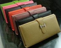 2014 Korean version of the new hot wallet   Fashion Long fold leather wallet women handbag