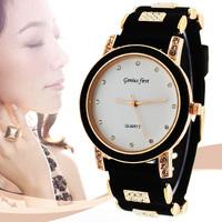 Free Shipping New Fashion Leather GENEVA Rose Flower Watch For Women Dress Watch Quartz Watches 1pcs/lot