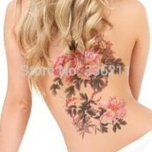 3pcs large big Peony flower designs Temporary tattoos stickers Waterproof body paint fake tatoo new  for women free shipping(China (Mainland))