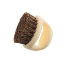 Horseshoe Shape Horse Hair Soft Brush Horse Mane Shoe Brush Pappus Bag Brush (beige)(China (Mainland))