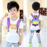 New 2014 Fashion 100% Cotton summer cartoon t-shirt boys girls clothing baby child short-sleeve T-shirt children's t-shirts