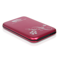 """Red New Style USB 3.0 SATA 2.5"""" HD HDD Hard Disk Drive Enclosure External Case"""