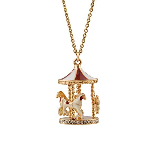Wholesale Jewelry Stylish Carousel Swing Horse Pendant Necklace Sale 9278(China (Mainland))