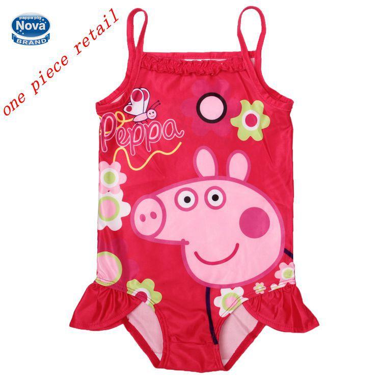 子供の水着の子供のスーツの赤ん坊の子供の入浴・2014年peppa豚の新しいピース水着水着ビキニの女の子r4752女の子のための