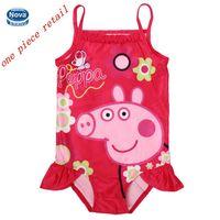 children swimwear children's bathing suits baby & kids piece swimsuit new 2014 peppa pig swimwear for girls bikini girl R4752
