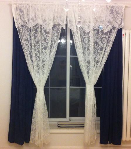 Victoria rosa laciness tenda testa tenda di pizzo per windows soggiorno camera da letto tende di - Tende in pizzo per camera da letto ...