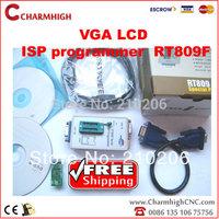VGA LCD ISP programmer RT809F Serial ISP Programmer + 1 adapter PC Repair 24-25-93 serise IC RTD2120, best price!